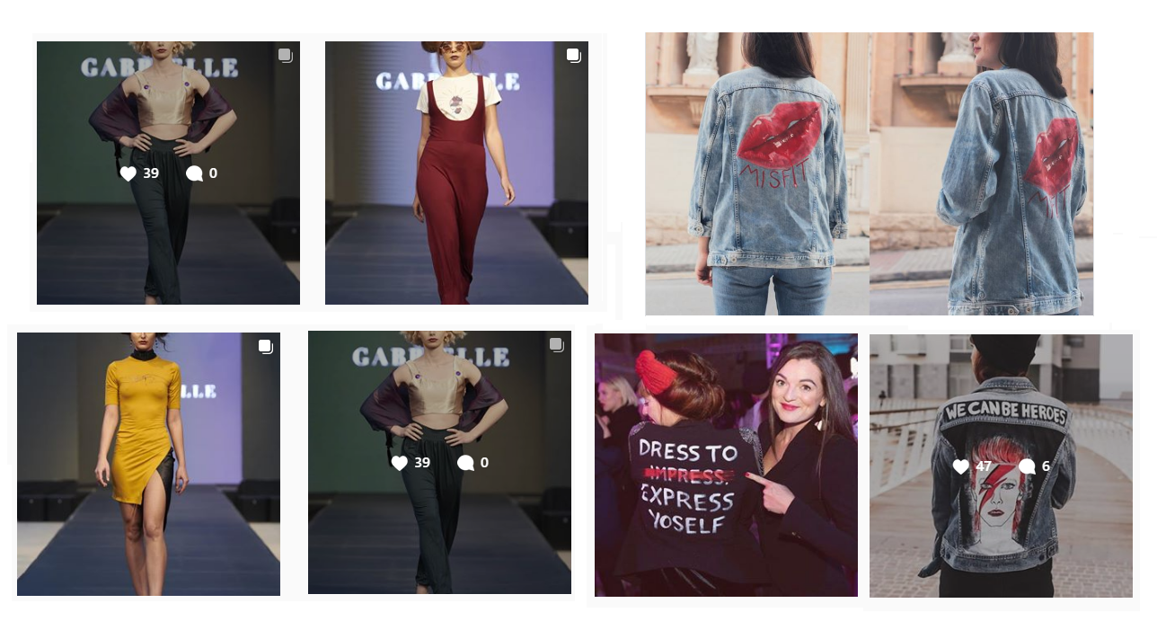 Insta Pics of Gabrielle Fenech and Creative Creep Brands